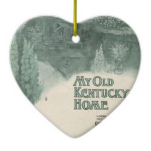 My Old Kentucky Home Christmas Ornaments